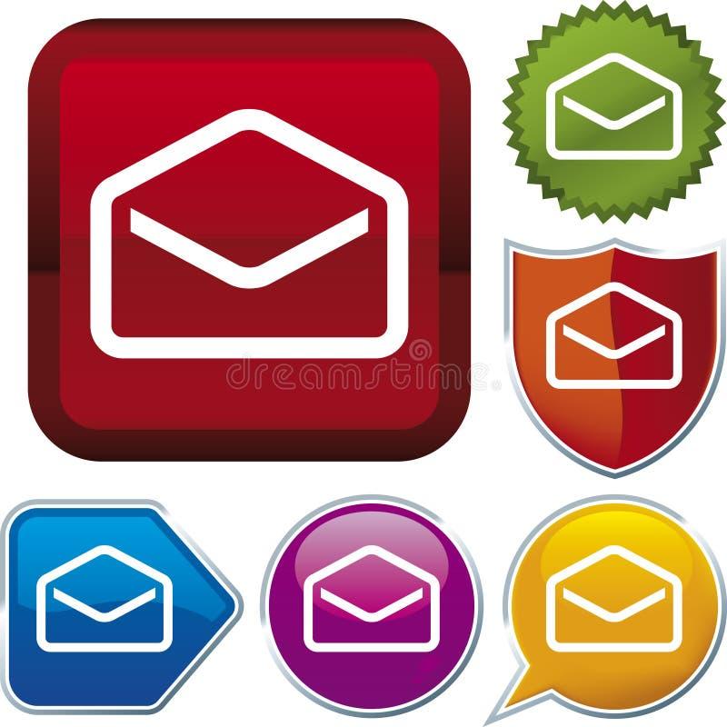 Série do ícone: envelope ilustração royalty free