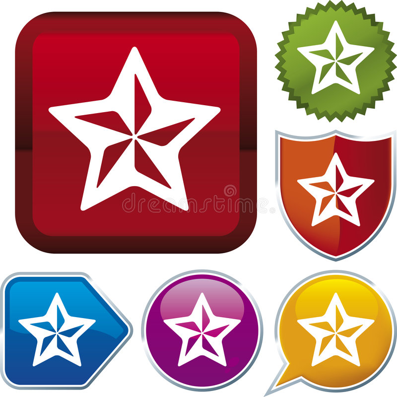 Série do ícone: estrela (vetor) ilustração royalty free