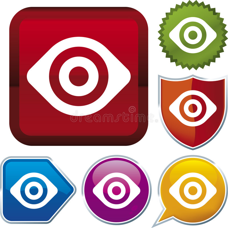 Série do ícone: vista (vetor) ilustração stock