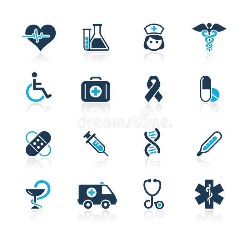 Série do Azure de // do cuidado da medicina & da charneca ilustração stock