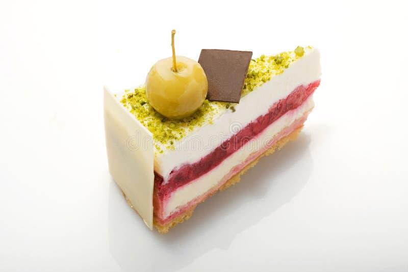 Série do bolo. Bolo com pistachioes. imagens de stock
