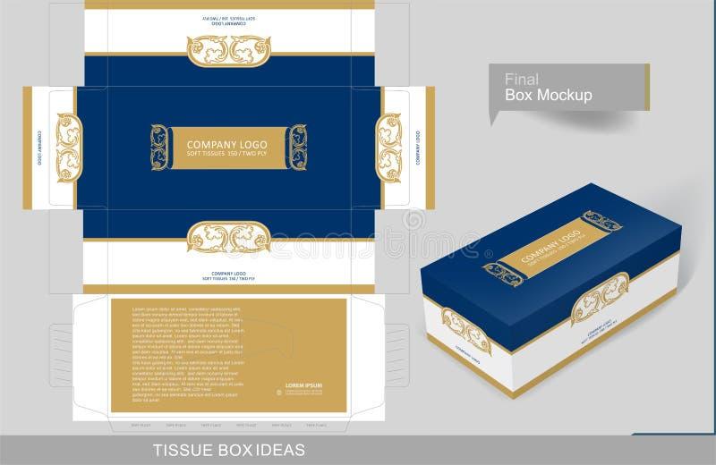 Série do conceito do molde da caixa do tecido ilustração stock