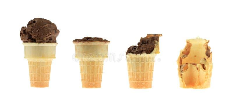 Série do cone de gelado foto de stock royalty free