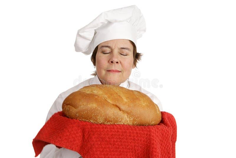 Série do cozinheiro chefe - aroma do pão imagem de stock royalty free