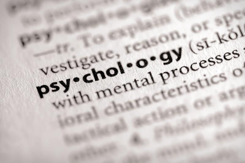 Série do dicionário - psicologia: psicologia fotos de stock