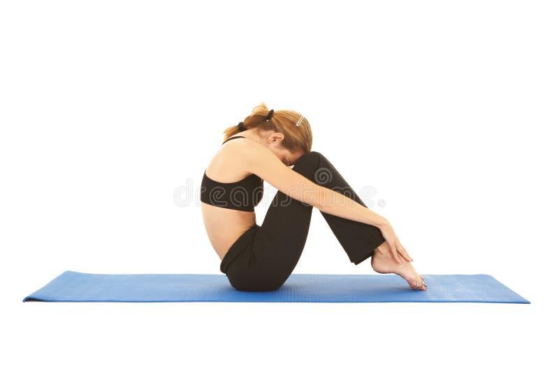 Série do exercício de Pilates imagens de stock
