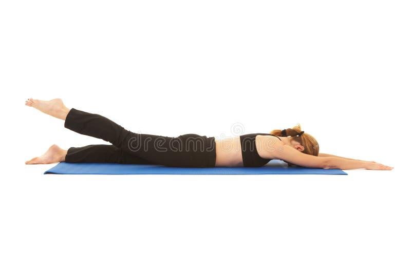 Série do exercício de Pilates imagens de stock royalty free