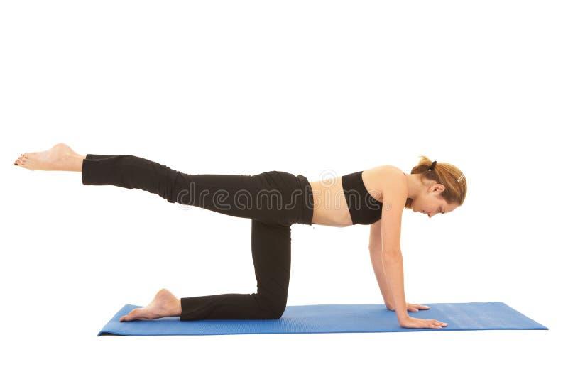 Série do exercício de Pilates foto de stock