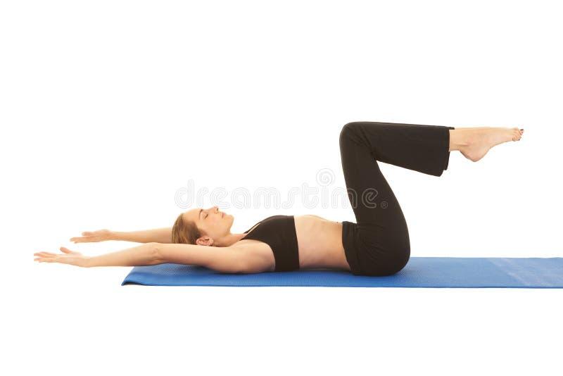 Série do exercício de Pilates imagem de stock royalty free