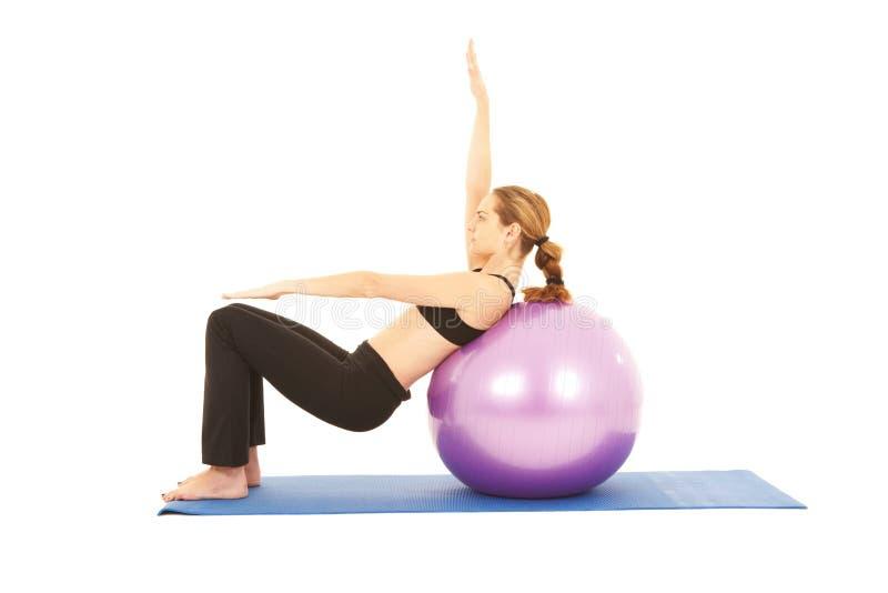 Série do exercício de Pilates fotografia de stock royalty free