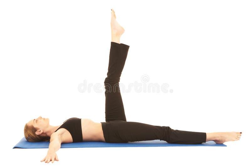 Série do exercício de Pilates fotos de stock