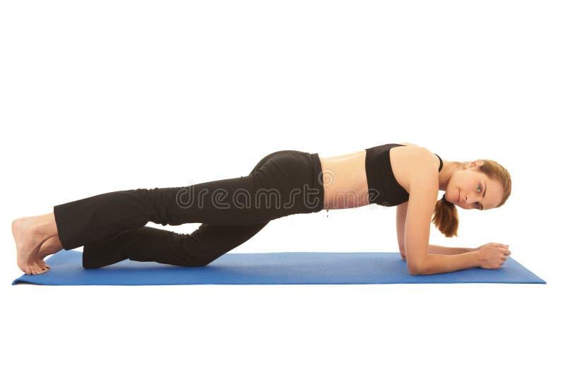 Série do exercício de Pilates fotos de stock royalty free