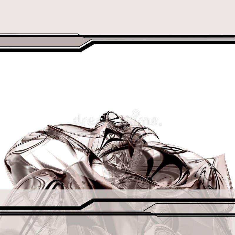 Série do Fractal - molde marrom ilustração royalty free