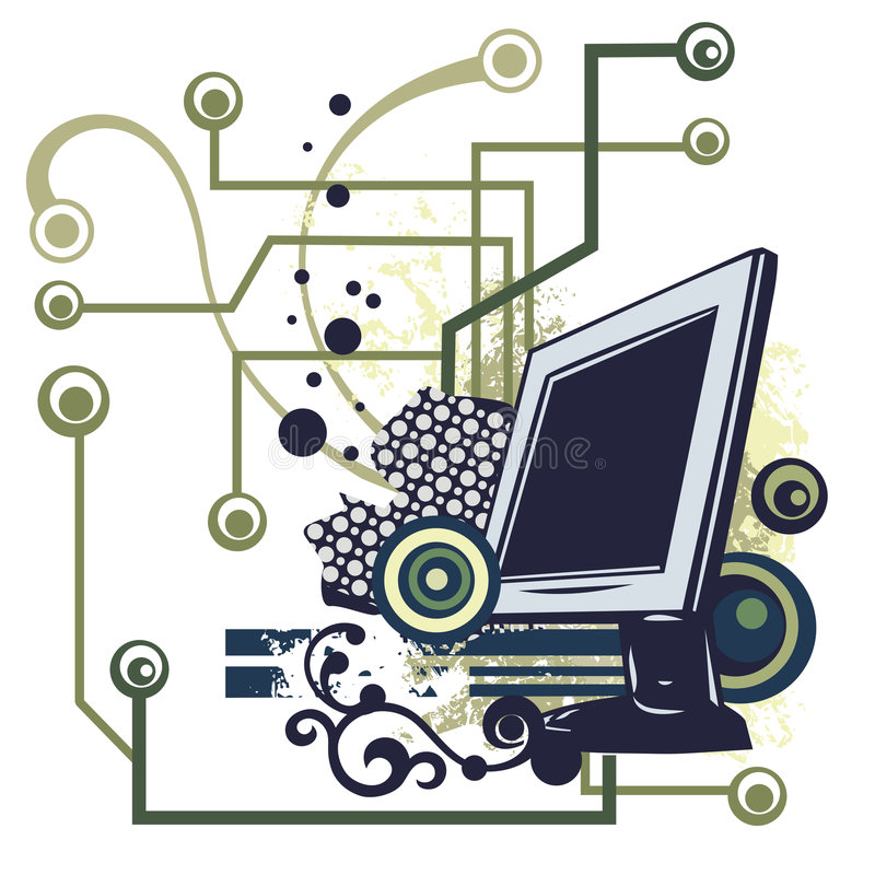 Série do fundo do computador ilustração stock