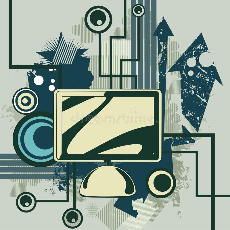 Série do fundo do computador ilustração do vetor
