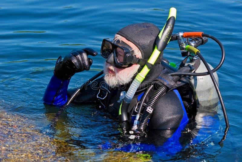 Série do mergulhador fotografia de stock