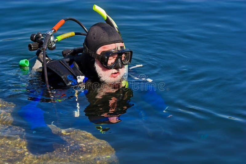 Série do mergulhador fotos de stock royalty free