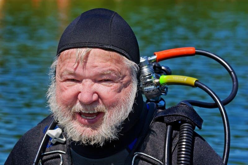 Série do mergulhador foto de stock