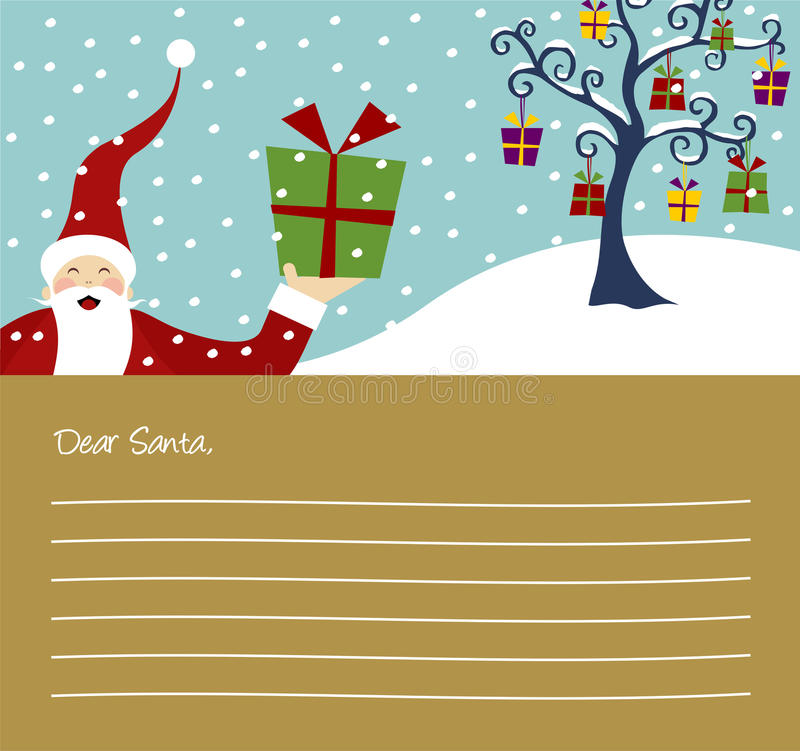 Série do Natal: Árvore de Natal ilustração stock