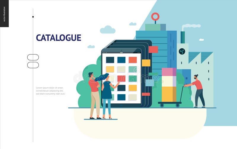 Série do negócio - molde da Web do catálogo de produto ilustração royalty free