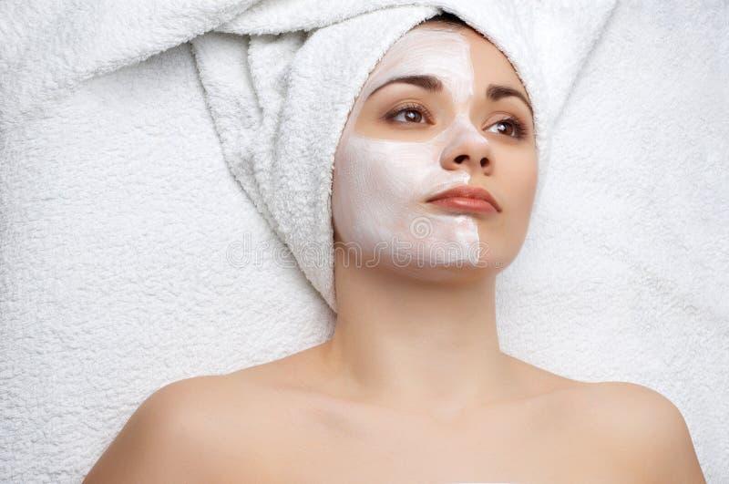 Série do salão de beleza de beleza: máscara facial imagem de stock royalty free