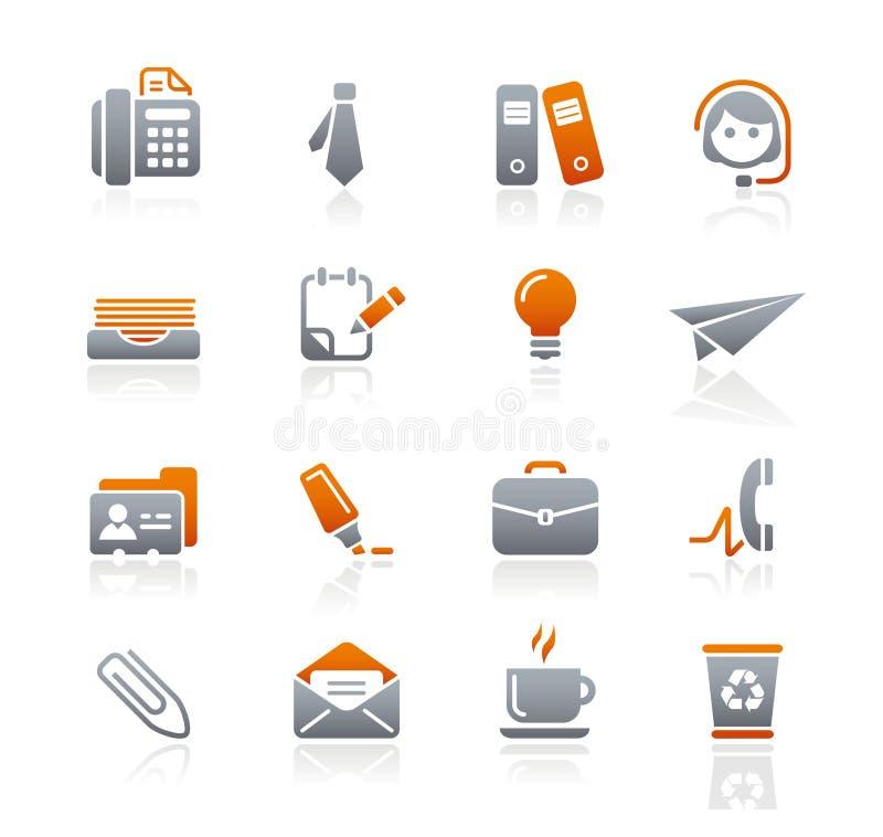 Série dos ícones da grafita de // do escritório & do negócio ilustração stock