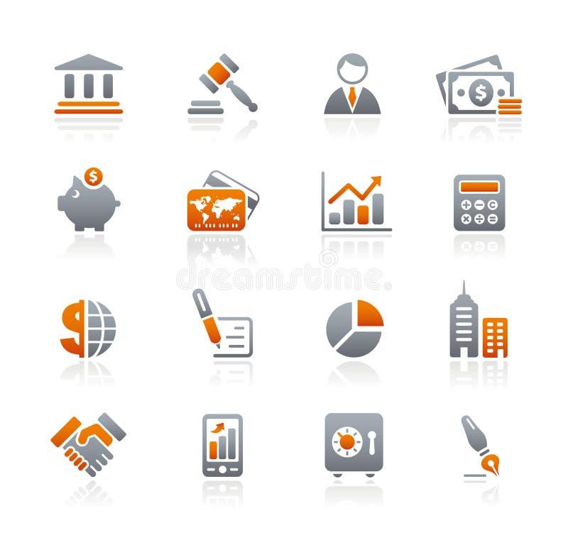 Série dos ícones da grafita de // do negócio & da finança ilustração stock