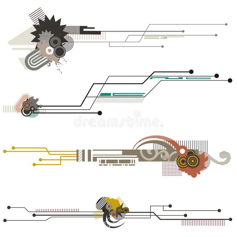 Série dos elementos do projeto da tecnologia