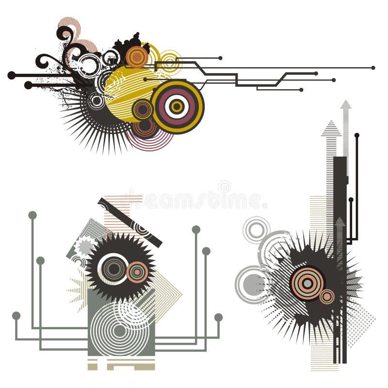 Série dos elementos do projeto da tecnologia ilustração stock