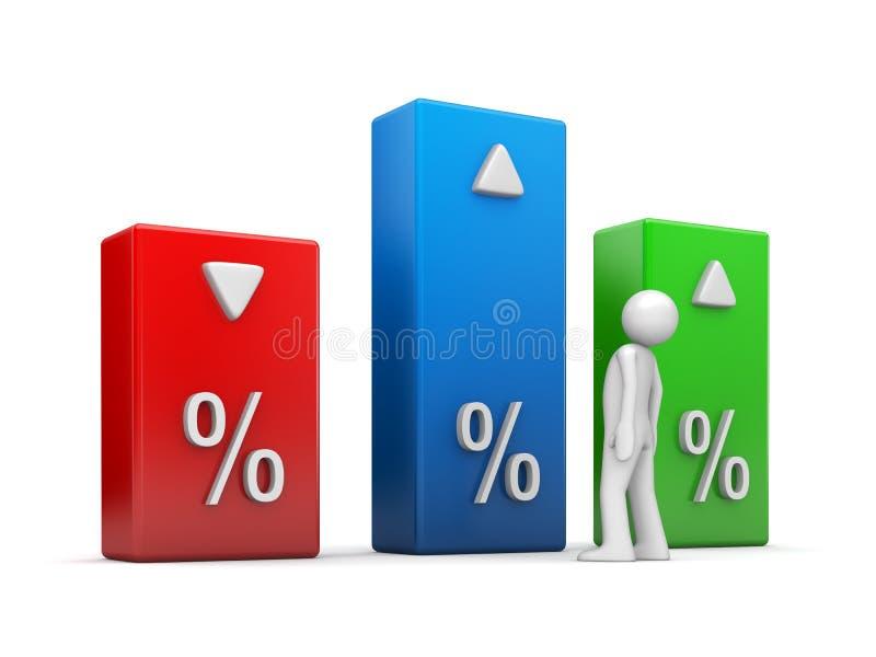 Série dos indicadores ilustração stock