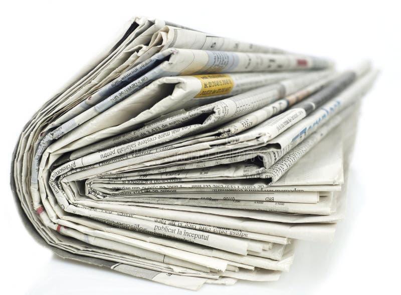 Série dos jornais imagem de stock