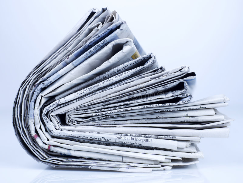 Série dos jornais fotos de stock