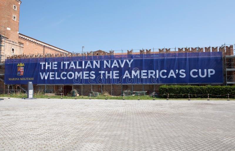 Série du monde de la cuvette de l'Amérique à Venise photos libres de droits