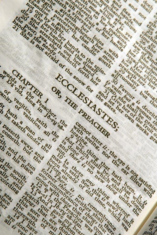 Série Ecclesiastes da Bíblia fotos de stock