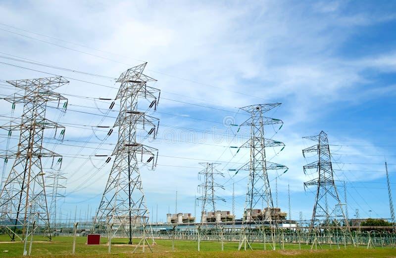 Série elétrica 01 da central energética fotos de stock