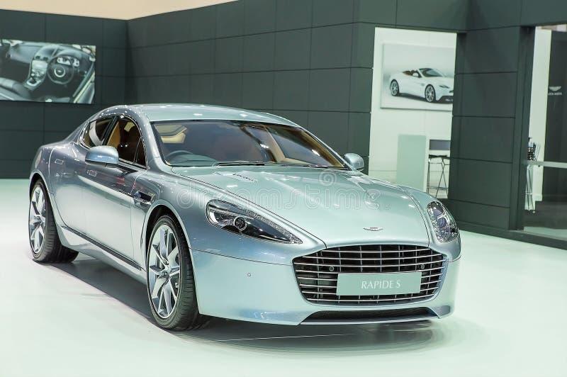 Série en bronze argentée Rapide S d'Aston Martin image libre de droits