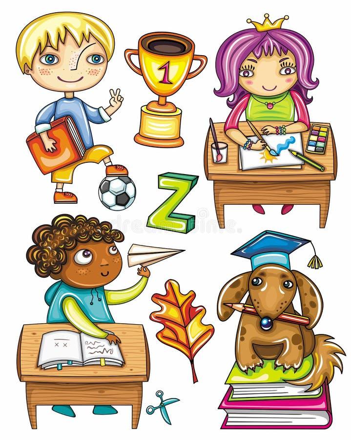 Série engraçada 1 dos alunos ilustração stock