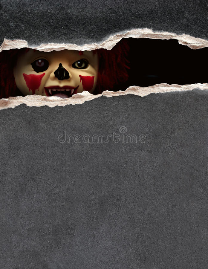 Série escura - palhaço assustador ilustração do vetor