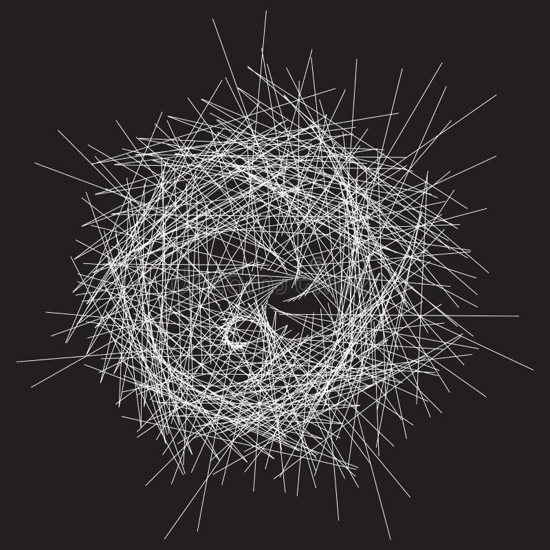Série espiral abstrata do elemento Forme com distorção de giro A ilustração royalty free