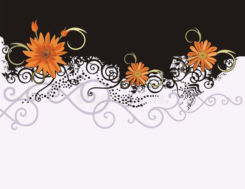 Série floral do fundo ilustração royalty free