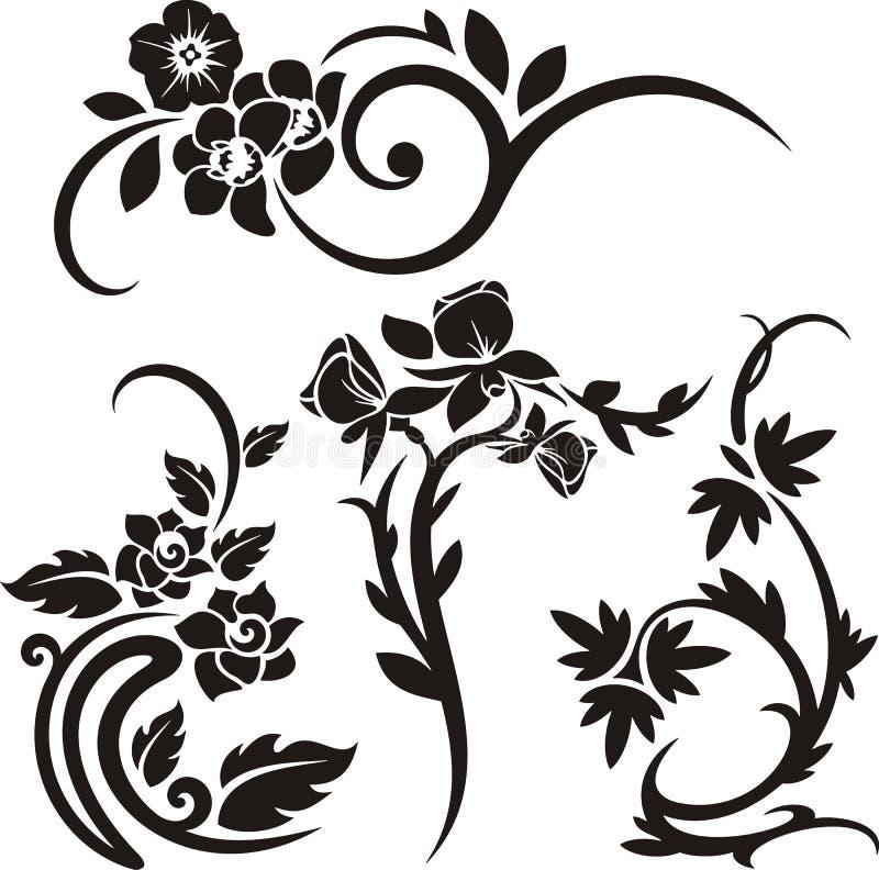 Série floral do ornamento ilustração stock