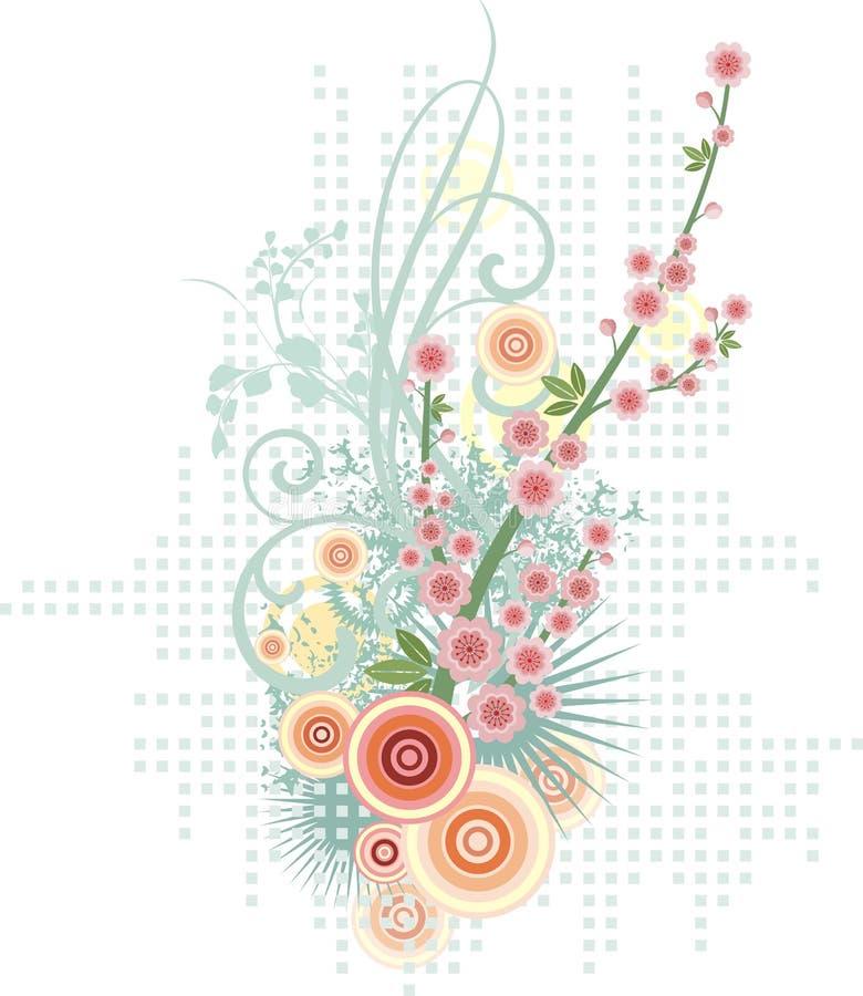 Série floral do projeto ilustração stock
