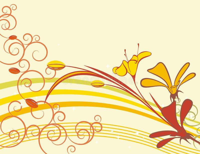Série floral requintado ilustração royalty free