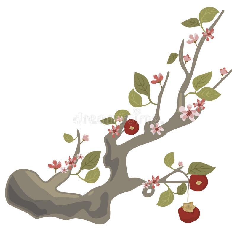 Série florale de branchement illustration stock