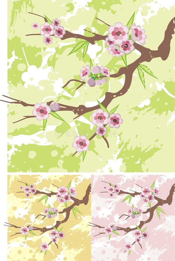 Série florale de branchement illustration de vecteur