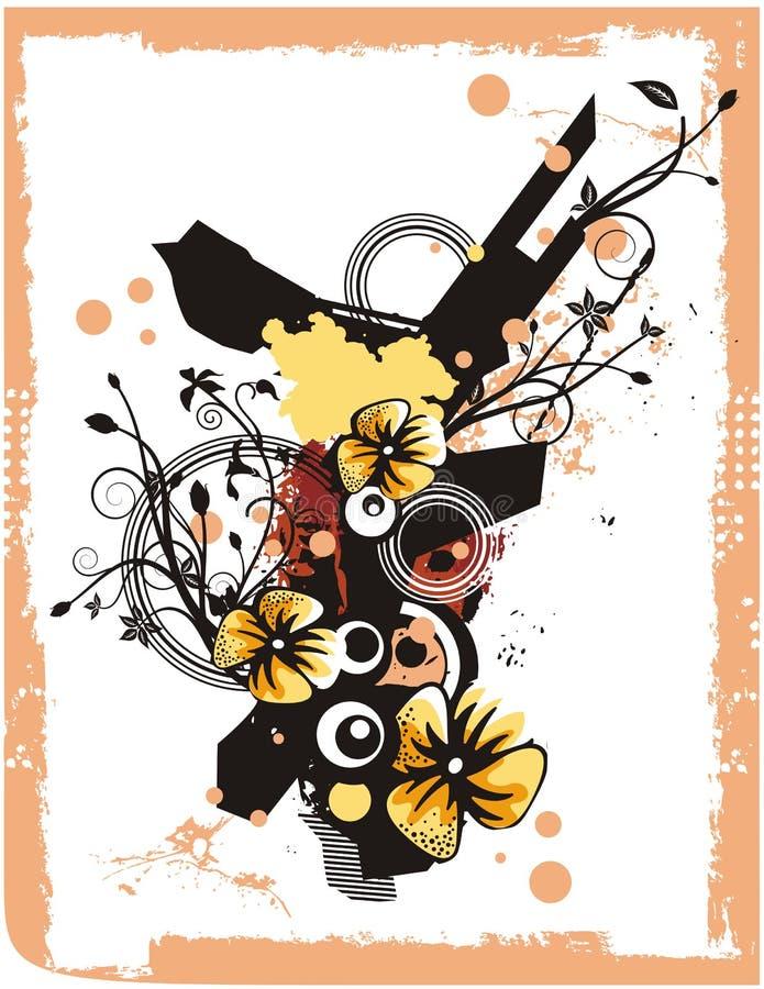 Série florale de fond illustration de vecteur