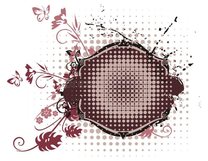 Série grunge florale de trame illustration stock