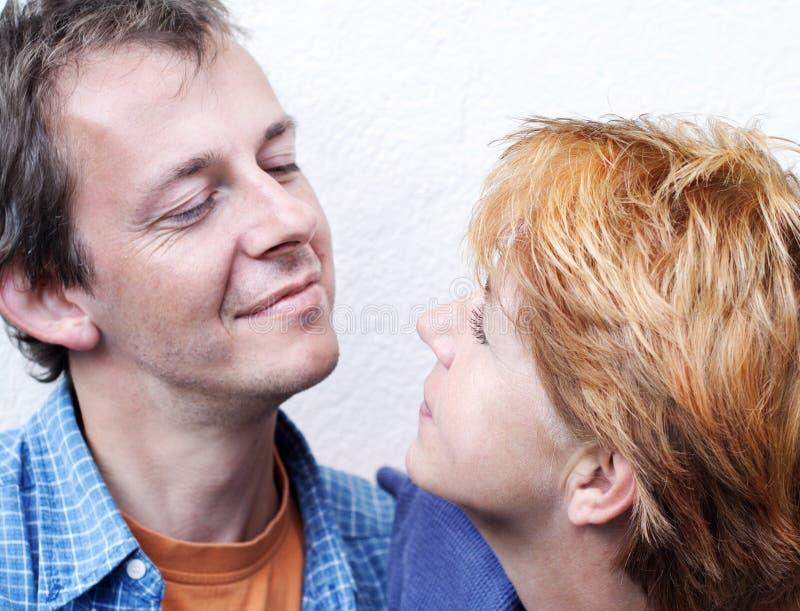 Série heureuse de couples photographie stock