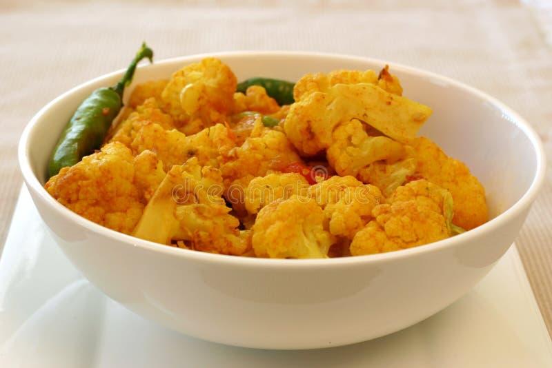 Série indiana do alimento - couve-flor imagem de stock