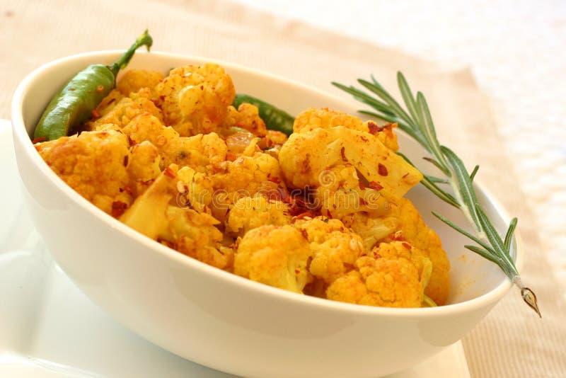 Série indienne de nourriture - chou-fleur photographie stock